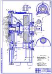 Сборочный чертеж в Компасе (Двухступенчатый соосный редуктор)