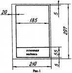 Правила оформления чертежа (формат, рамка, основная надпись на чертежах)